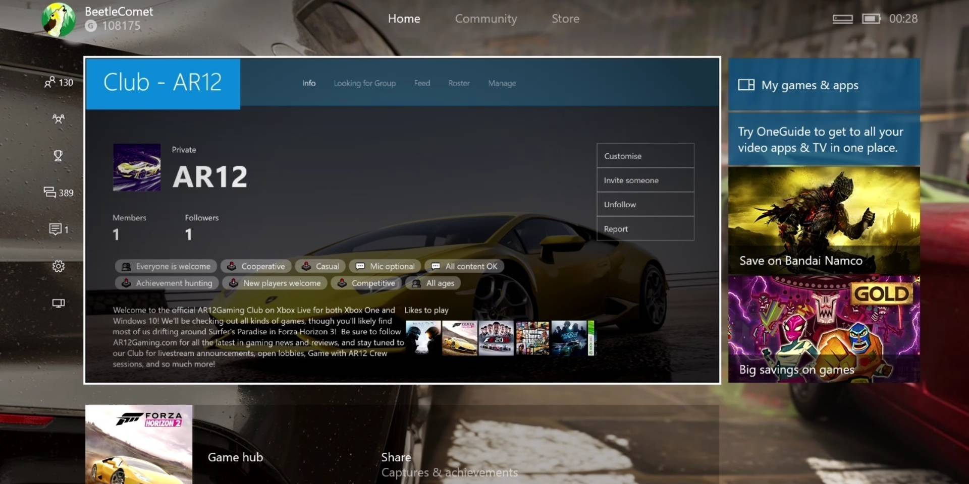 Clubs and Looking for Group on Xbox Live is rolling out to Preview