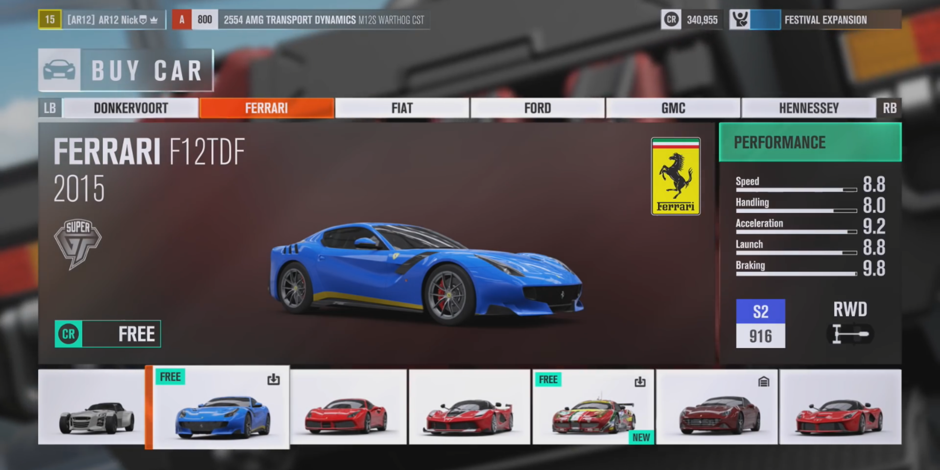 See the entire Forza Horizon 3 launch Car List - AR12Gaming