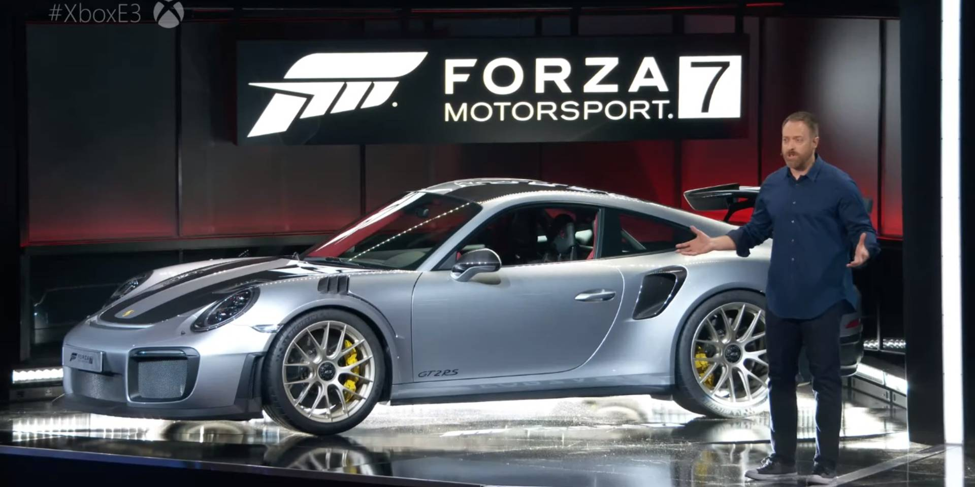 xbox e3 dan greenawalt unveils 2018 porsche 911 gt2 rs to the world at e3 ar12gaming. Black Bedroom Furniture Sets. Home Design Ideas