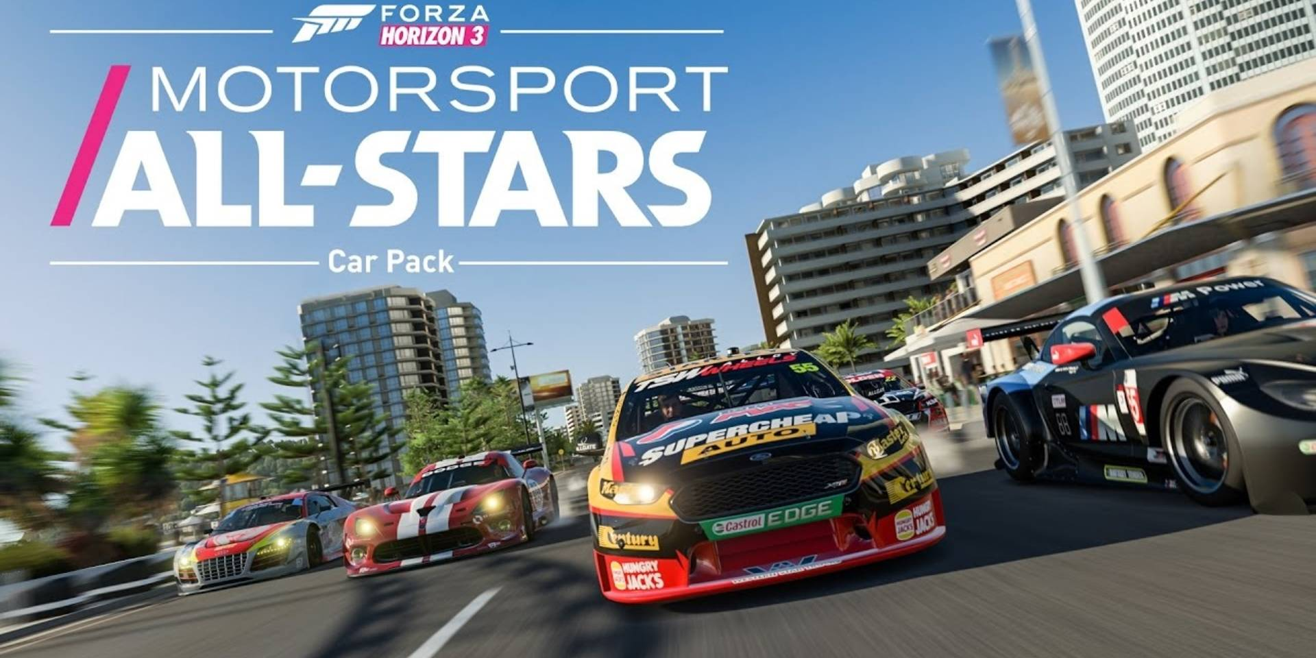 watch forza horizon 3 s motorsport all stars car pack trailer ar12gaming. Black Bedroom Furniture Sets. Home Design Ideas