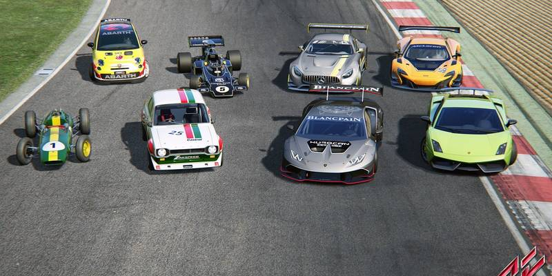 Here is the official track and car list for Assetto Corsa