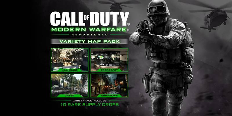 Variety Map Pack For Call Of Duty Modern Warfare Remastered